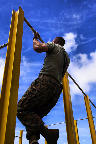 pull ups plateau - man doing chin ups on a pull up bar