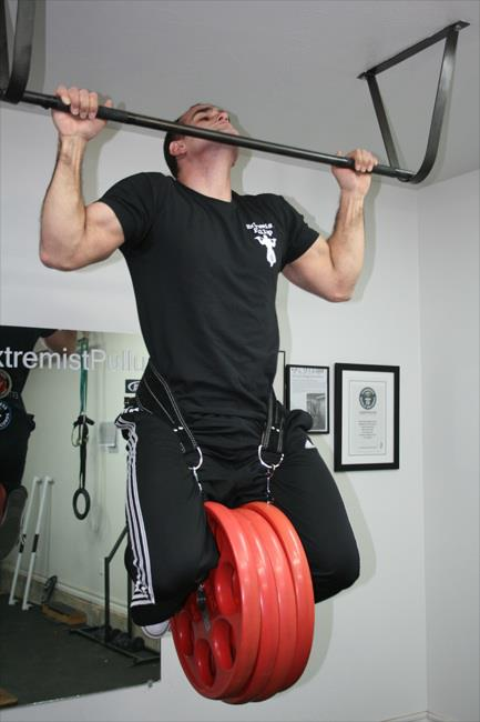 Steven Proto - world's heaviest weighted pull-up record holder
