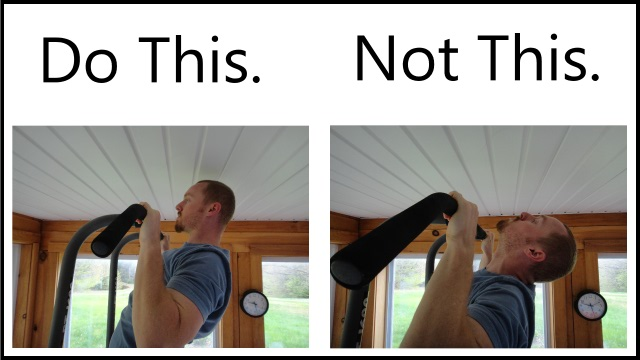 proper pull up form - neck alignment