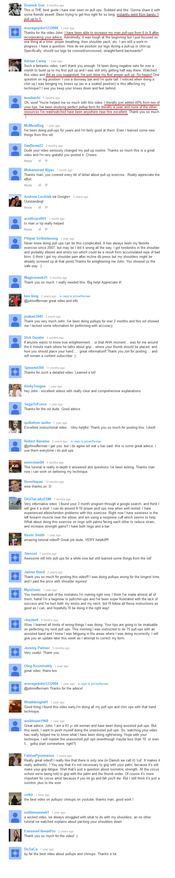 The Pull up Solution   New High converting Offer In Untapped Niche  Image of youtube testimonials